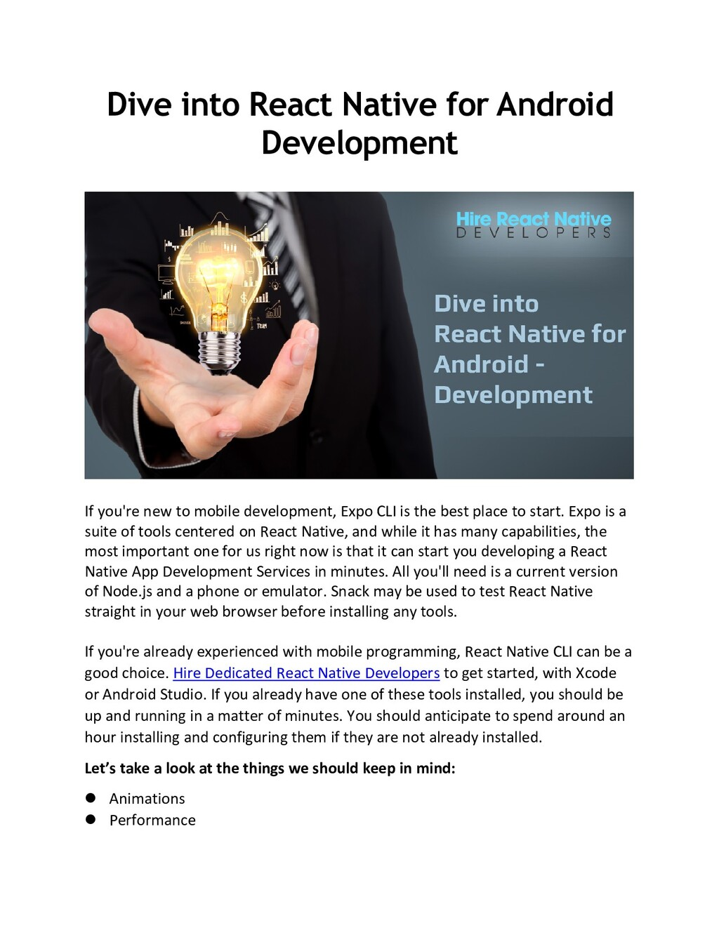Dive into React Native for Android Development ...