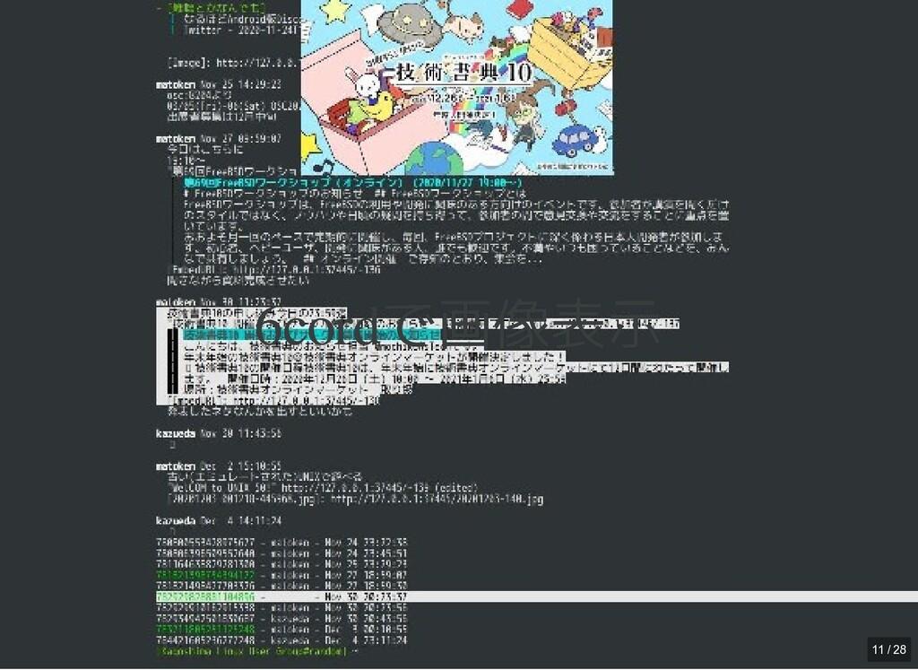 / 6cordで画像表示 6cordで画像表示 11 / 28