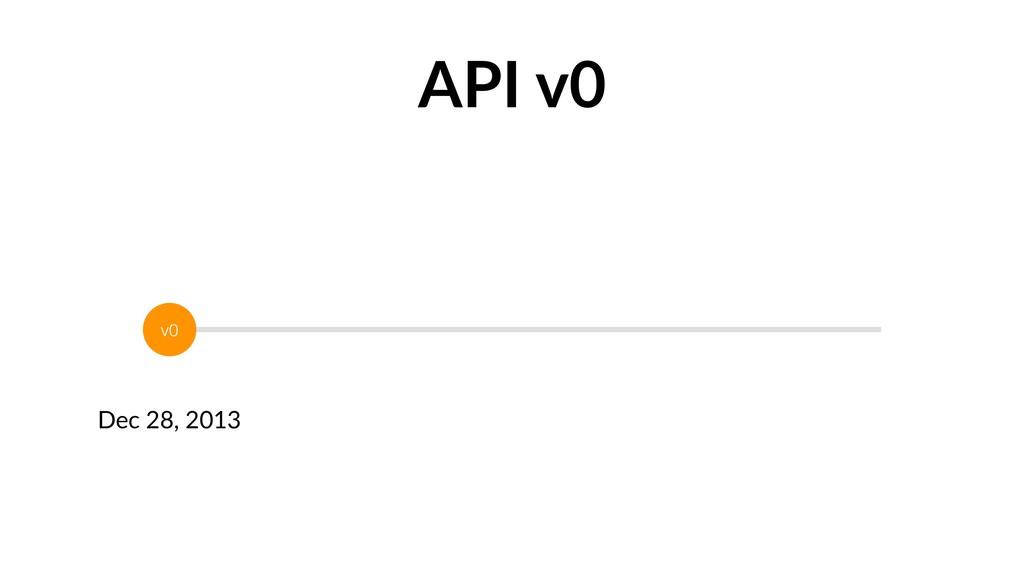 Dec 28, 2013 v0 API v0