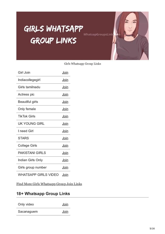 5/16 Girls Whatsapp Group Links Girl Join Join ...