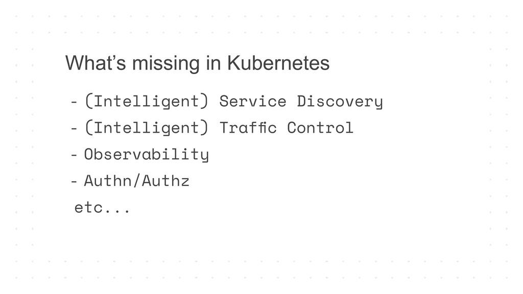 - (Intelligent) Service Discovery - (Intelligen...