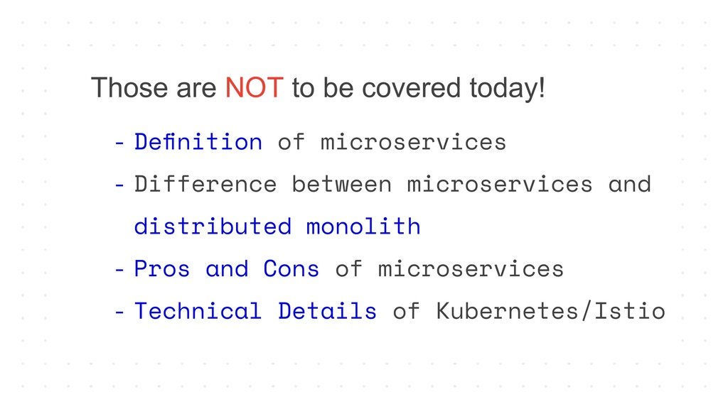 - Definition of microservices - Difference betwe...