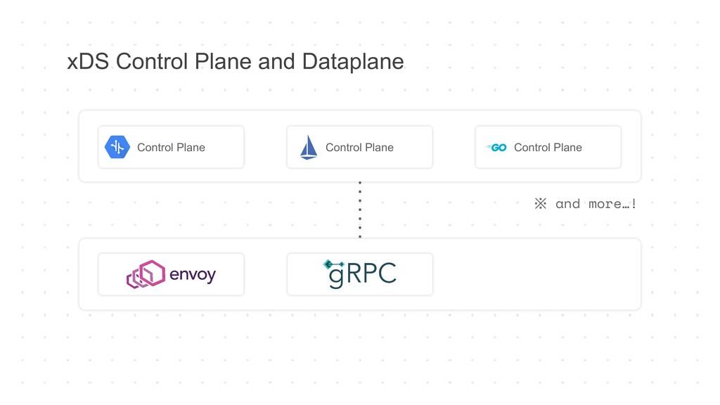 xDS Control Plane and Dataplane Control Plane C...