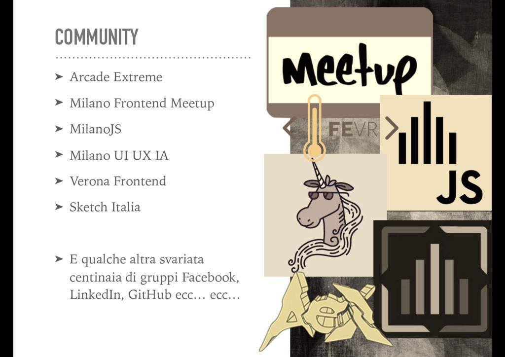 COMMUNITY ➤ Arcade Extreme ➤ Milano Frontend Me...