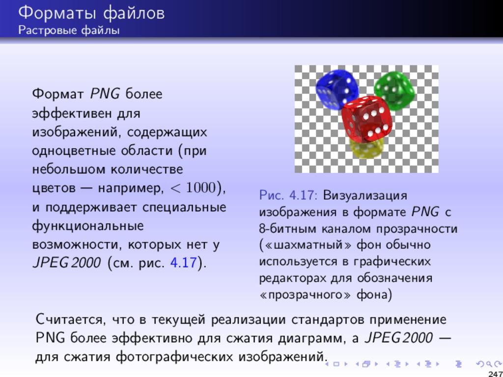 Форматы файлов Растровые файлы Формат PNG более...