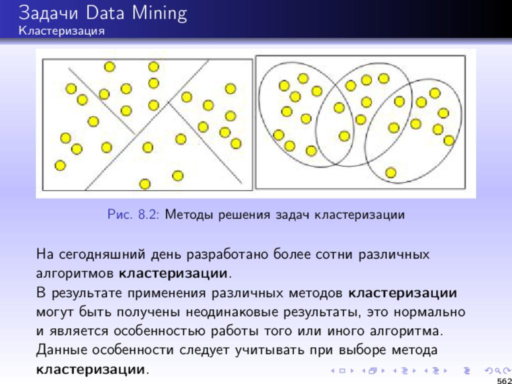 Задачи Data Mining Кластеризация Рис. 8.2: Мето...