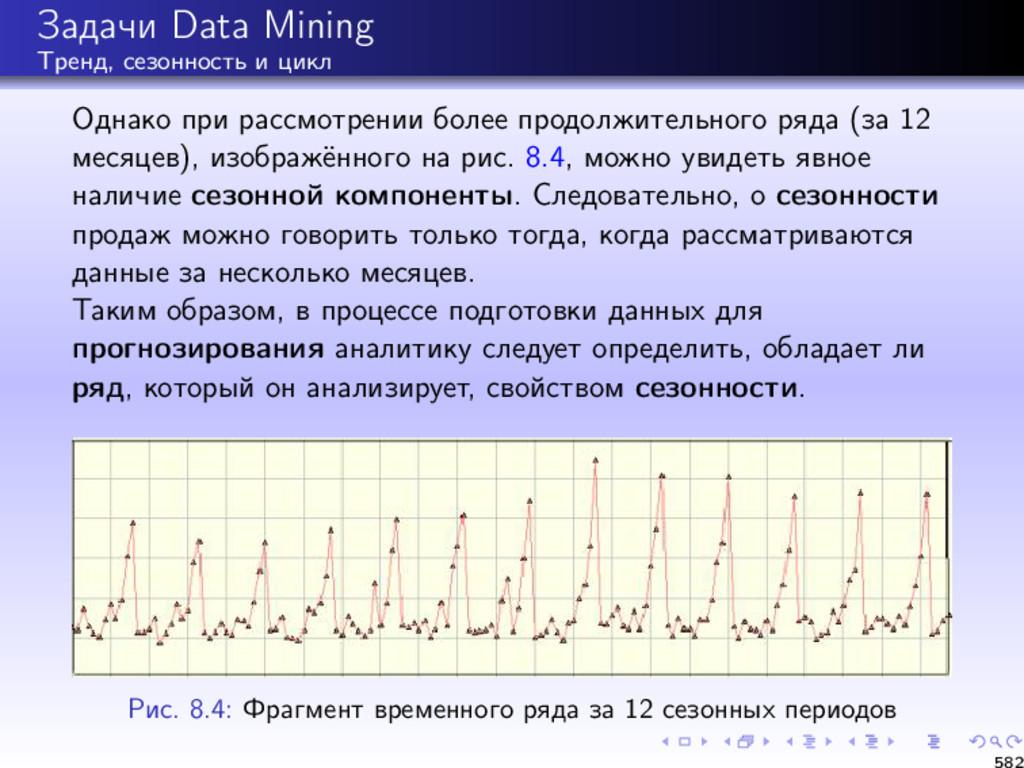 Задачи Data Mining Тренд, сезонность и цикл Одн...