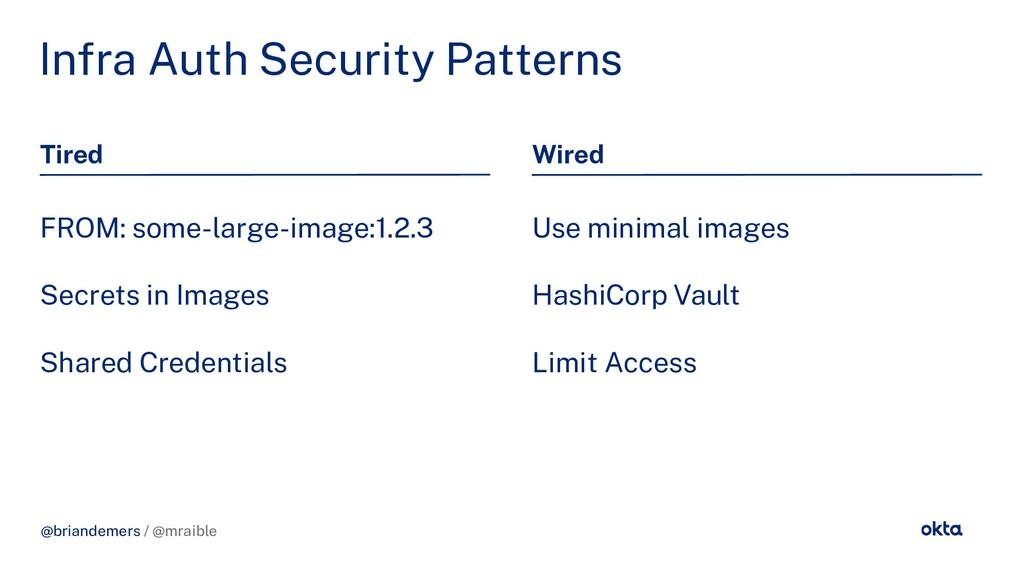 @briandemers / @mraible In ra Auth Security Pat...