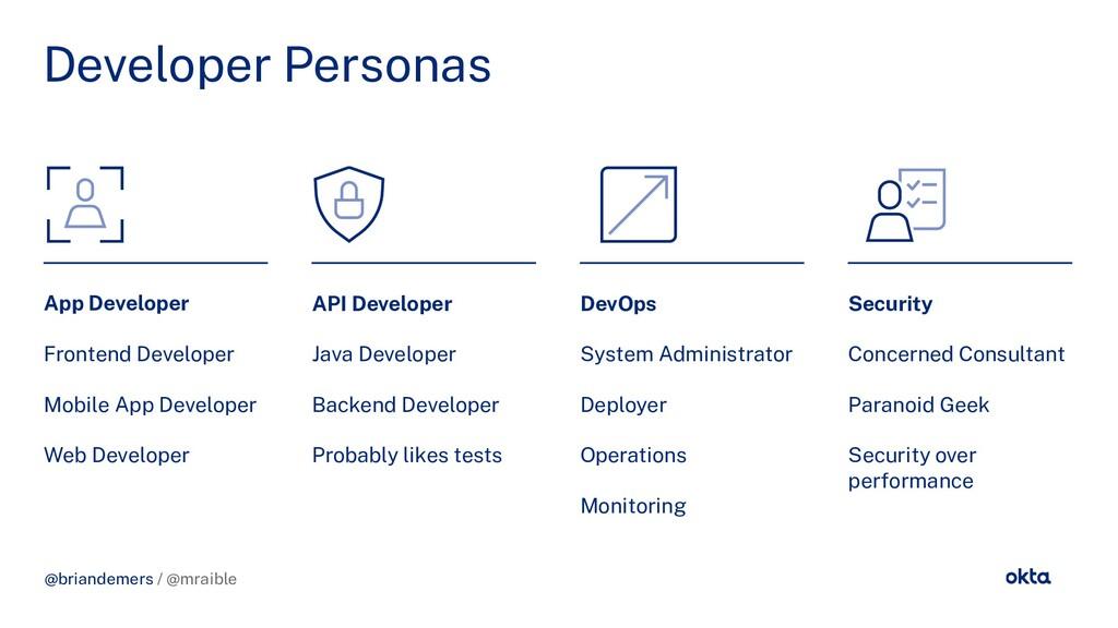 @briandemers / @mraible Developer Personas App ...