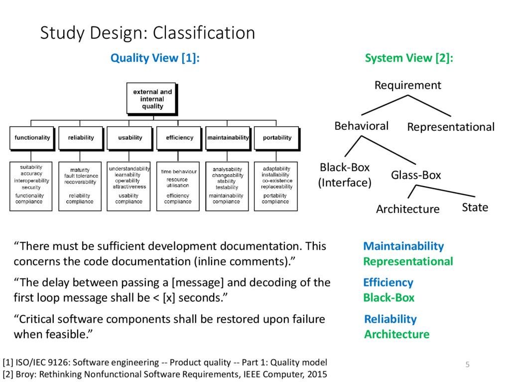 Study Design: Classification Requirement Repres...