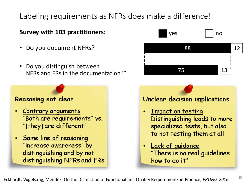 Labeling requirements as NFRs does make a diffe...