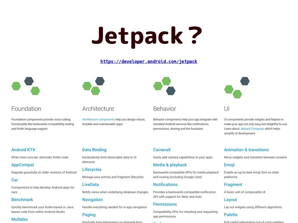 Jetpack? https://developer.android.com/jetpack