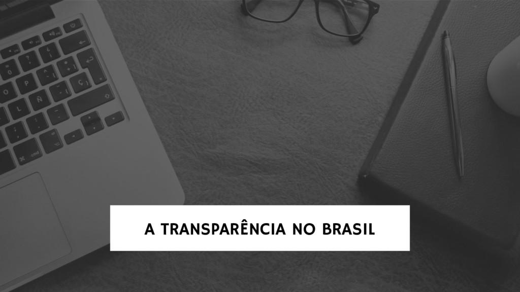 A TRANSPARÊNCIA NO BRASIL