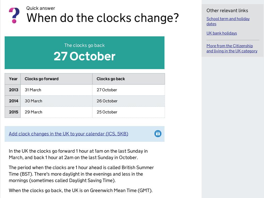 Quick answer When do the clocks change? School ...