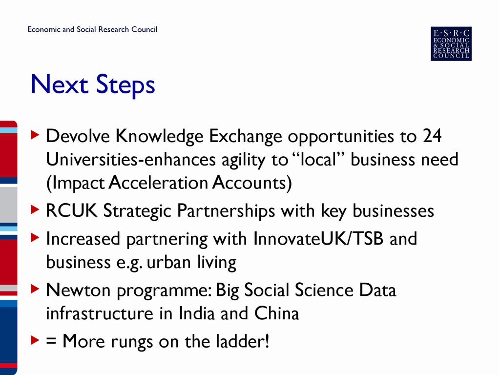 Next Steps ▶ Devolve Knowledge Exchange opportu...