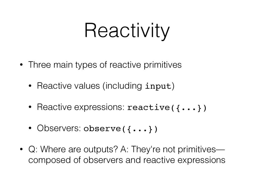 Reactivity • Three main types of reactive primi...