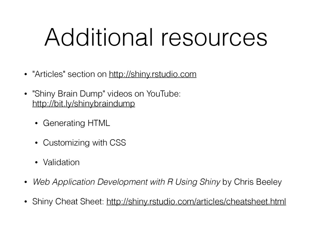 """Additional resources • """"Articles"""" section on ht..."""