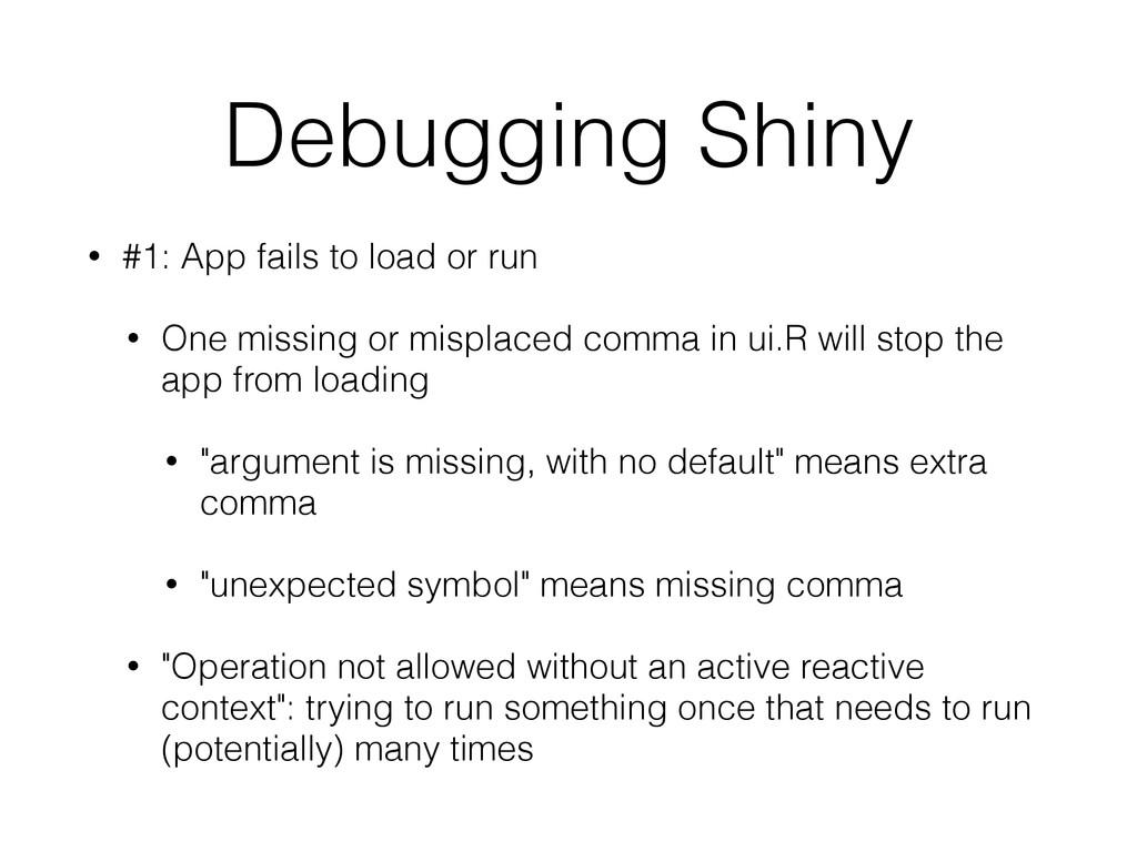 Debugging Shiny • #1: App fails to load or run ...