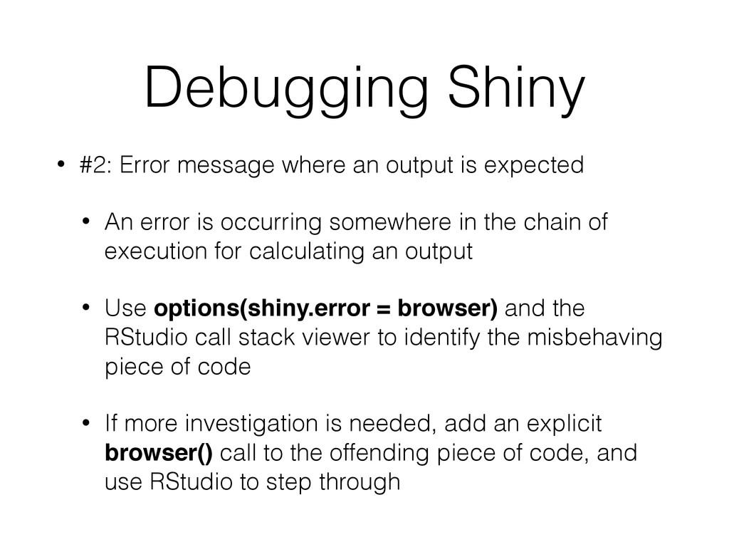 Debugging Shiny • #2: Error message where an ou...