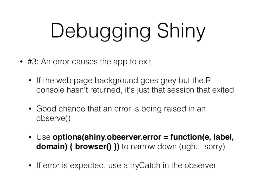 Debugging Shiny • #3: An error causes the app t...