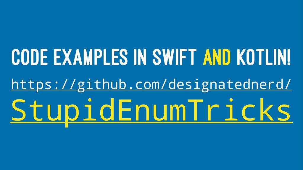 CODE EXAMPLES IN SWIFT AND KOTLIN! https://gith...
