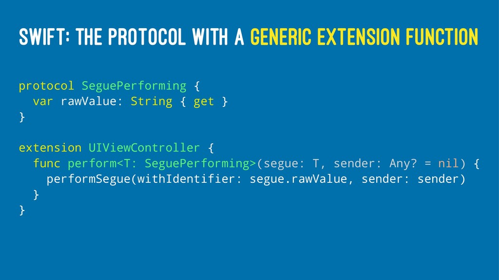 SWIFT: THE PROTOCOL WITH A GENERIC EXTENSION FU...
