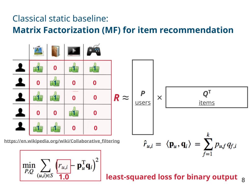 8 Classical static baseline: Matrix Factorizati...