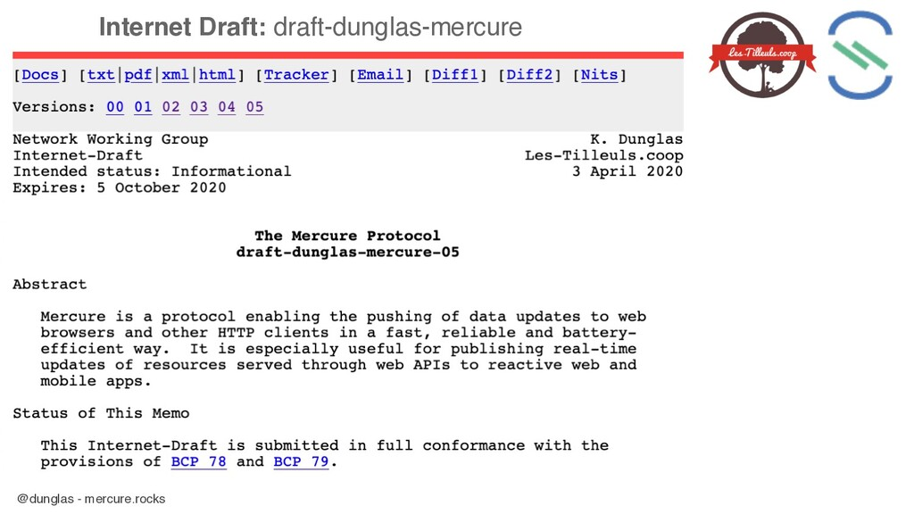 @dunglas - mercure.rocks Internet Draft: draft-...