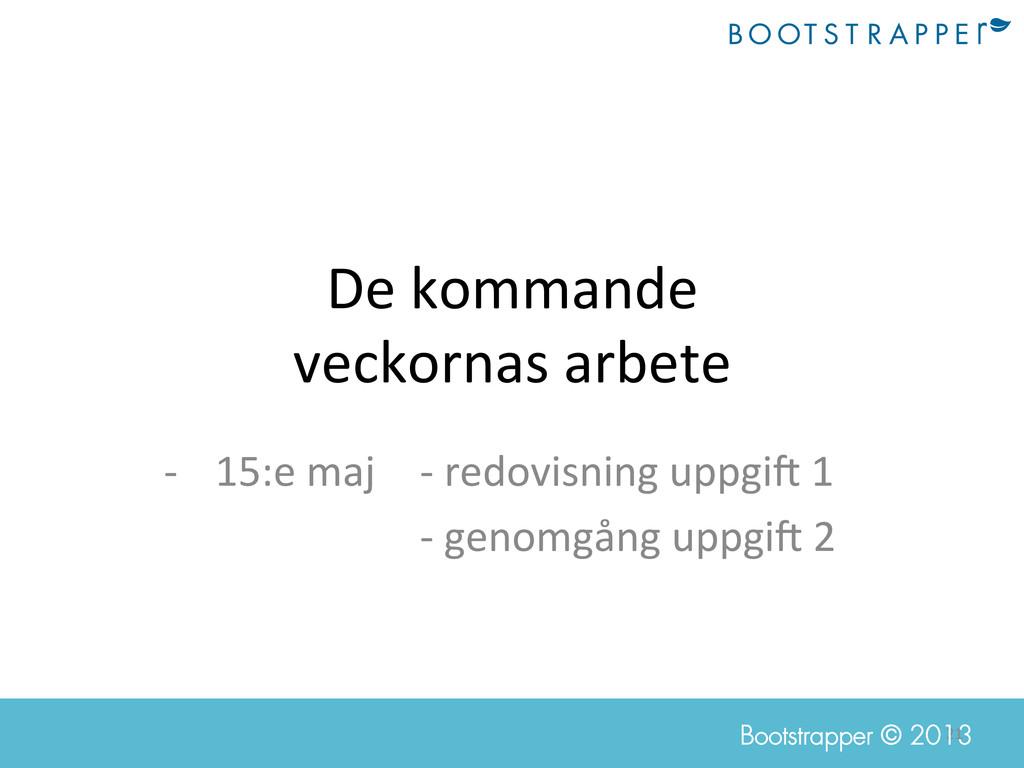 21  Bootstrapper © 2013 De kommande  v...