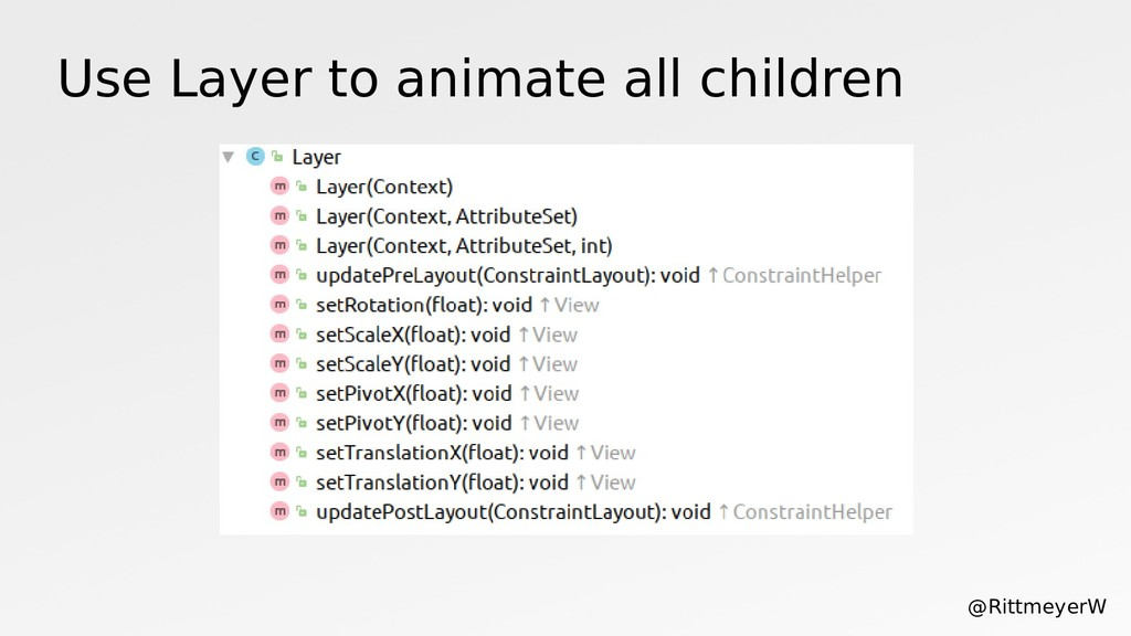 Use Layer to animate all children @RittmeyerW