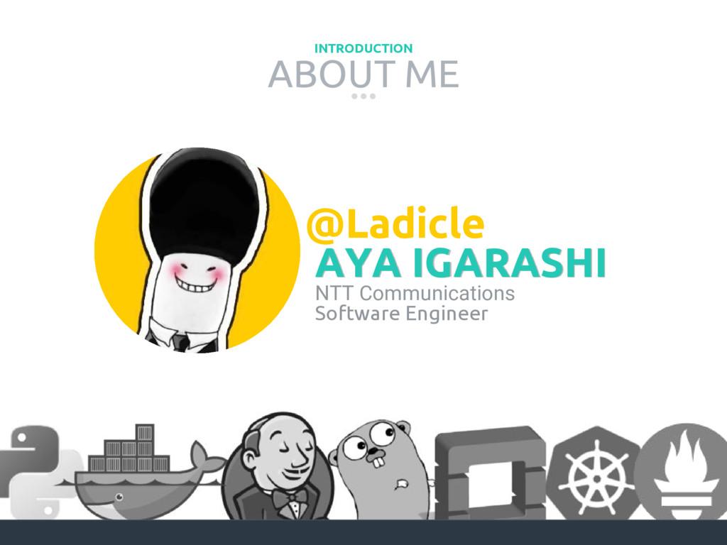 ABOUT ME INTRODUCTION AYA IGARASHI @Ladicle NTT...