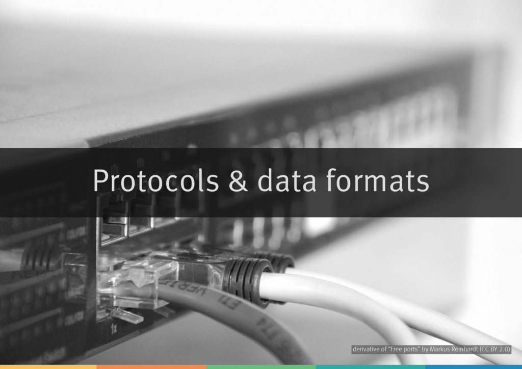 "Protocols & data formats derivative of by ""Free..."