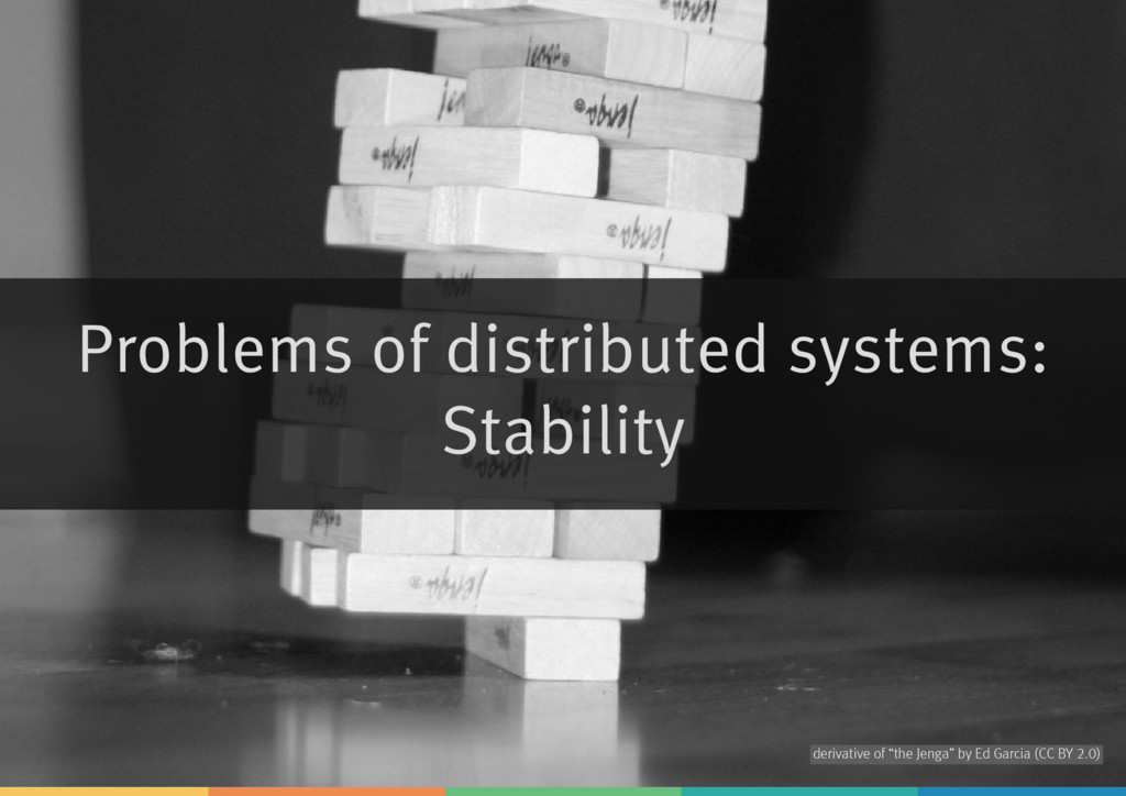 Problems of distributed systems: Stability deri...