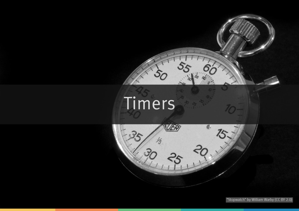 "Timers by ""Stopwatch"" William Warby (CC BY 2.0)"