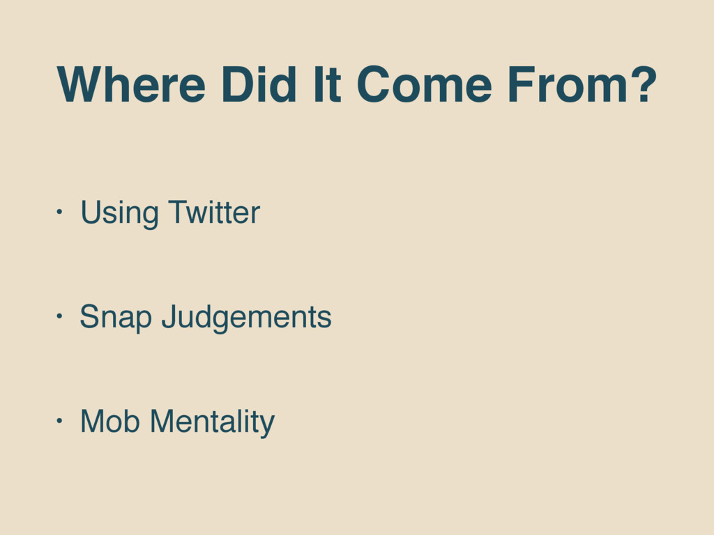 Where Did It Come From? • Using Twitter • Snap ...