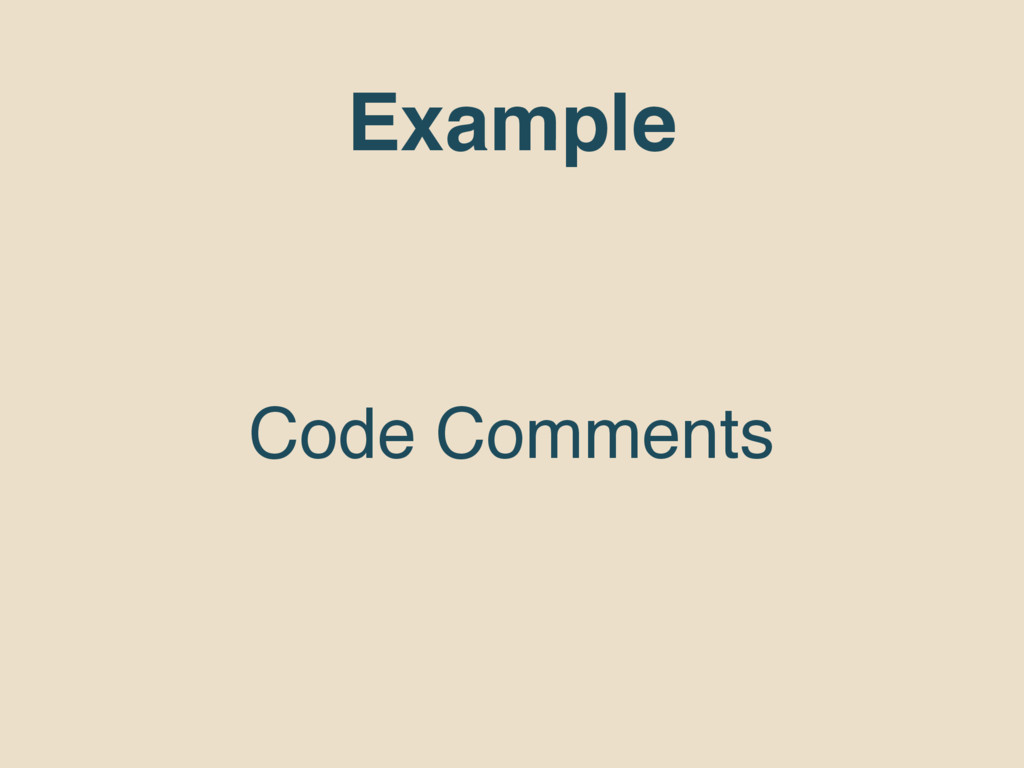 Example Code Comments