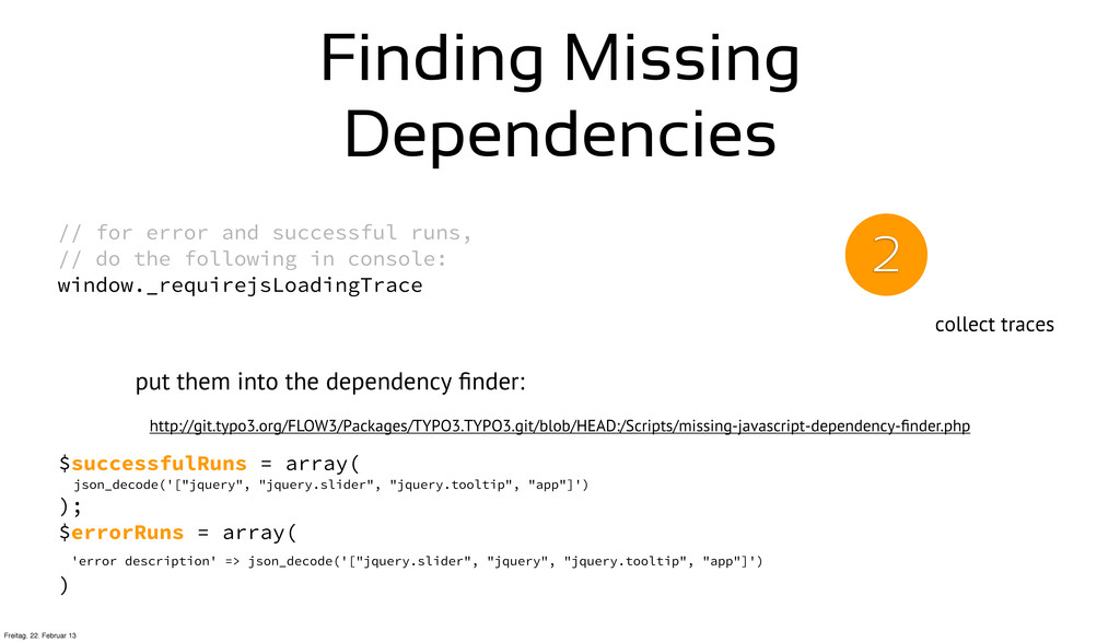 Finding Missing Dependencies // for error and s...