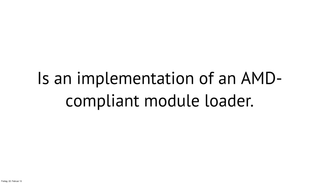 Is an implementation of an AMD- compliant modul...