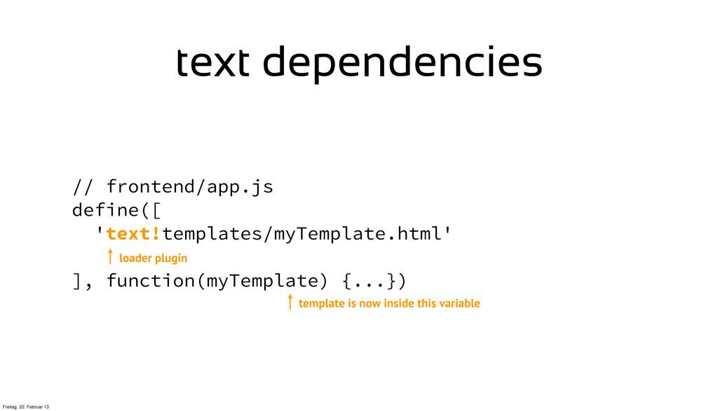 // frontend/app.js define([ 'text!templates/myT...