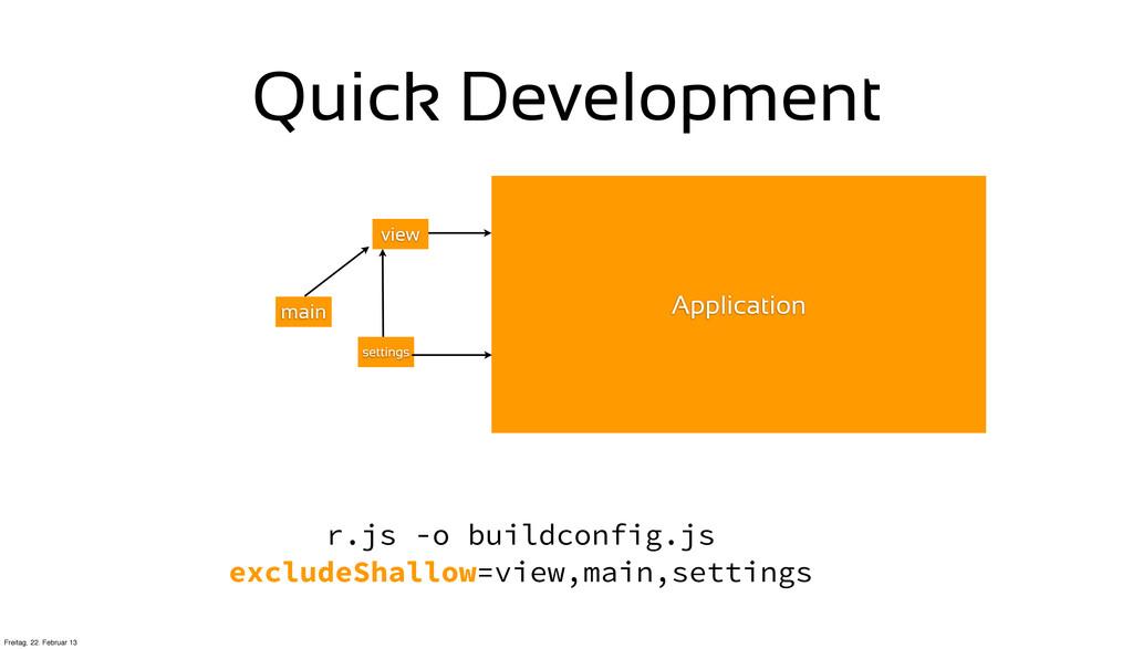 Quick Development Application view settings mai...