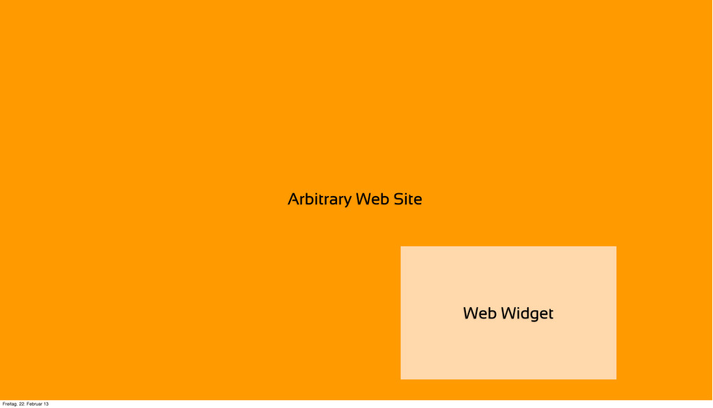 Arbitrary Web Site Web Widget Freitag, 22. Febr...