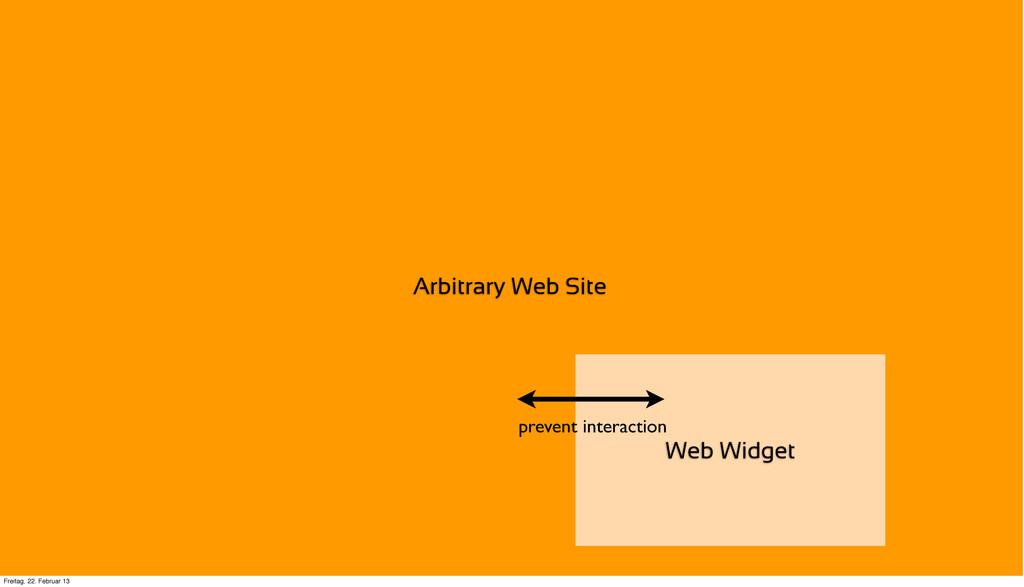 Arbitrary Web Site Web Widget prevent interacti...