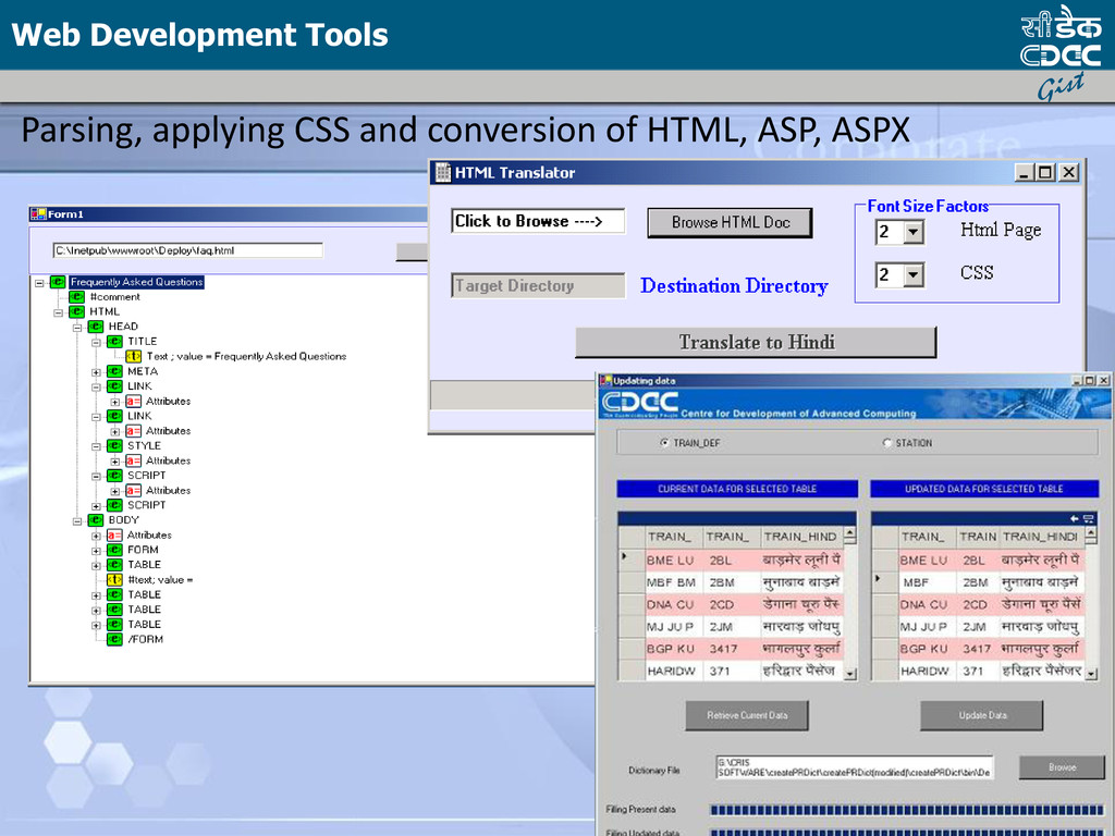 Parsing, applying CSS and conversion of HTML, A...