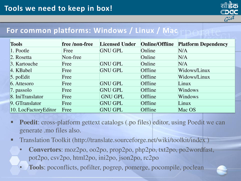 Tools we need to keep in box!  Poedit: cross-p...