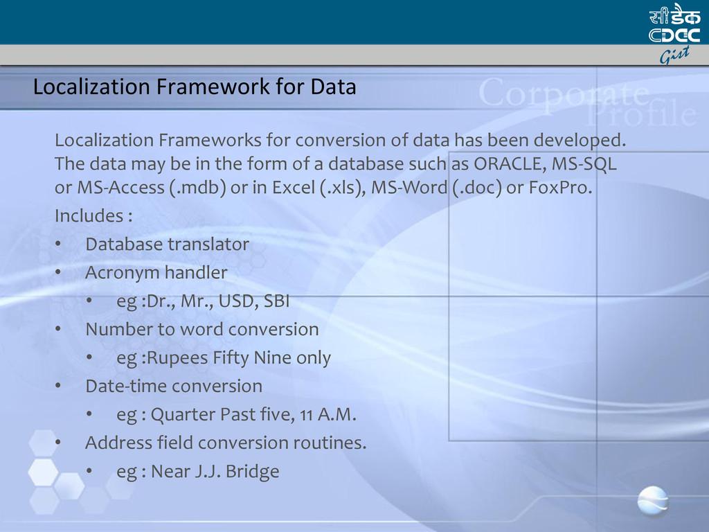 Localization Framework for Data Localization Fr...