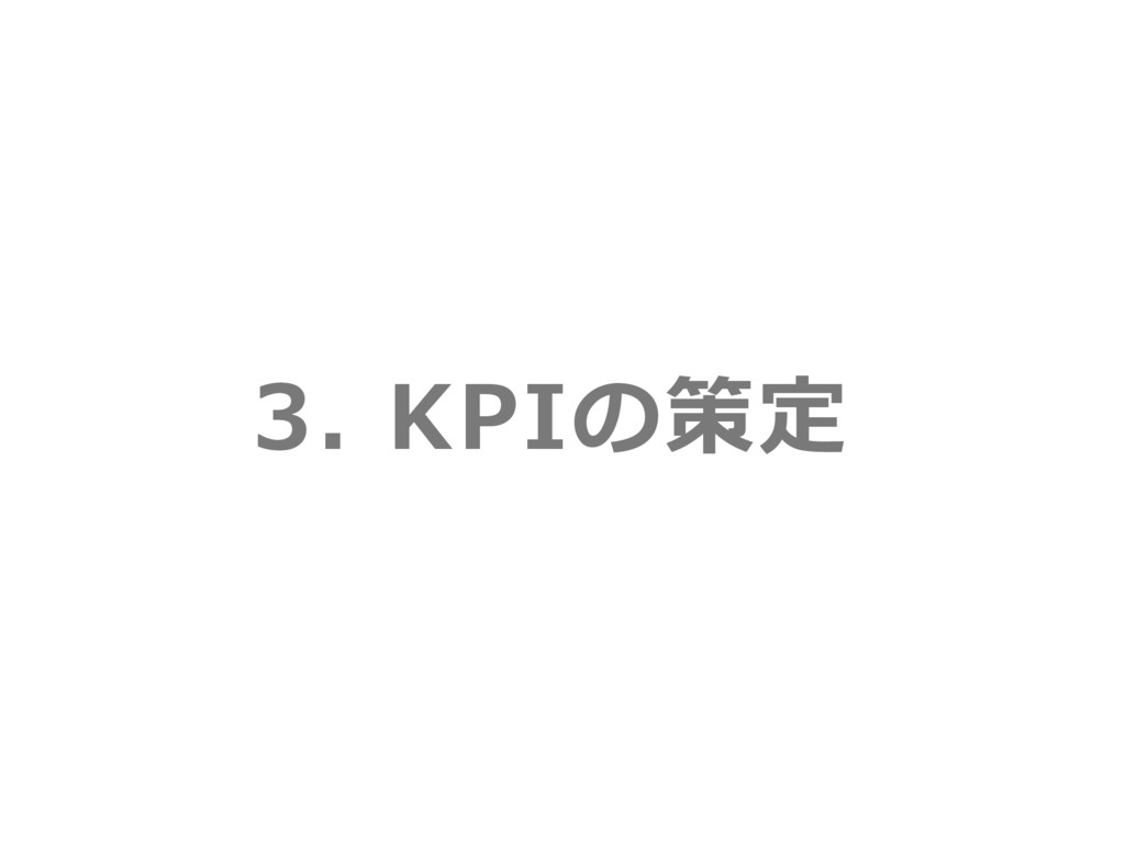 3. KPIの策定