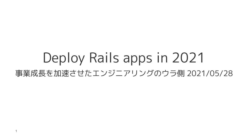 Deploy Rails apps in 2021 事業成長を加速させたエンジニアリングのウラ...