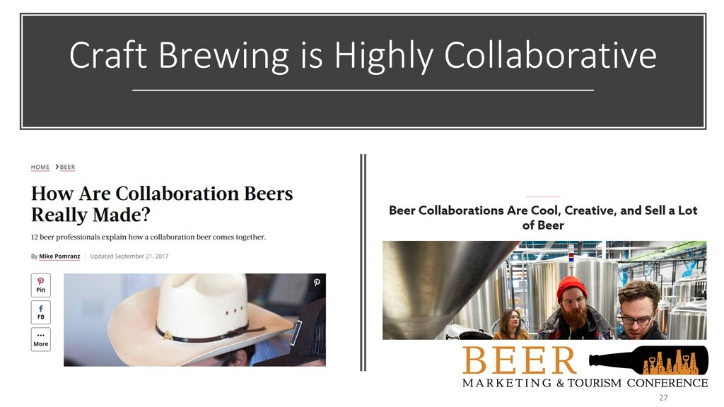 Craft Brewing is Highly Collaborative 27
