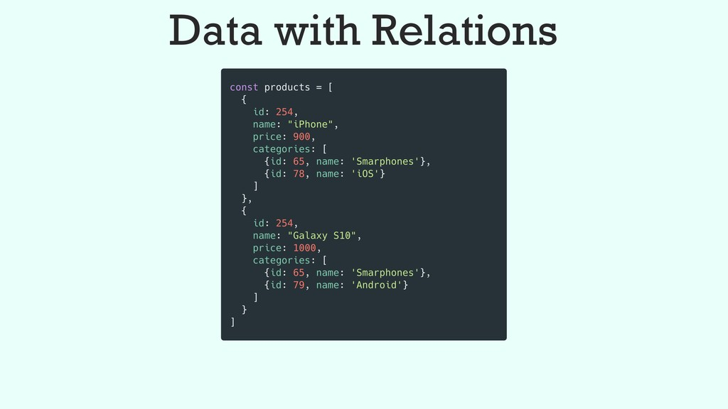 Data with Relations