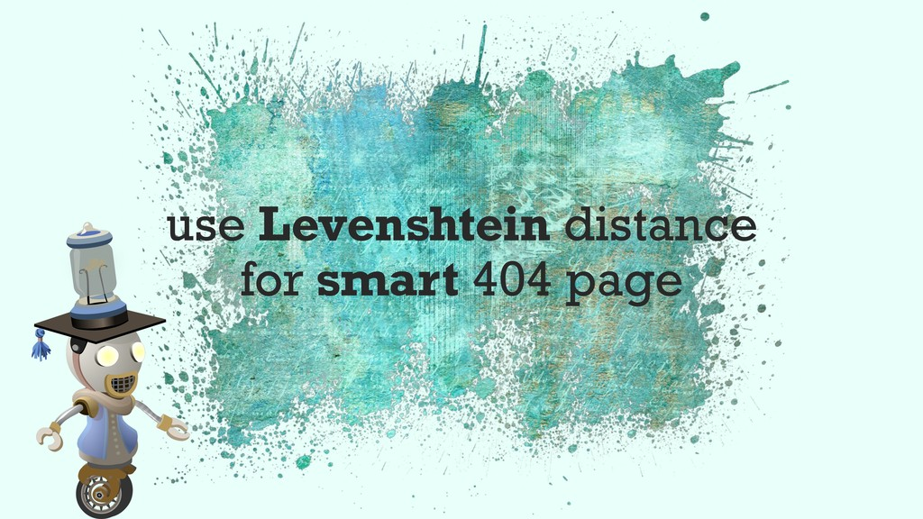 use Levenshtein distance for smart 404 page